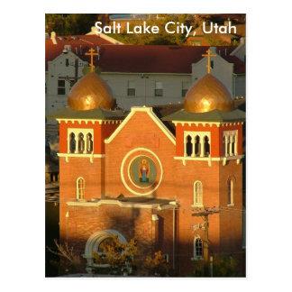 Carte Postale Église, Salt Lake City, UT