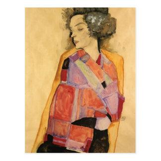 Carte Postale Egon Schiele- le rêveur (Gerti Schiele)