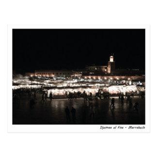 Carte Postale EL Fna de Djemaa la nuit
