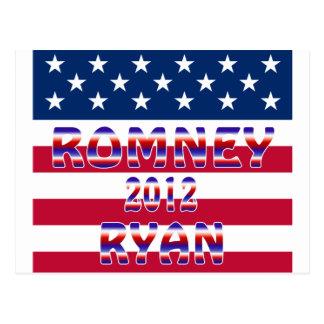 Carte Postale Élection présidentielle de Romney Ryan 2012