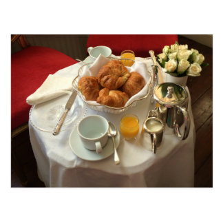 Carte postale élégante de petit déjeuner