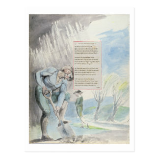 """Carte Postale """"Élégie écrite dans une cimetière de Counrty"""","""