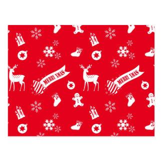 Carte Postale Éléments de Noël
