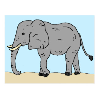 Carte Postale Éléphant dans les prairies