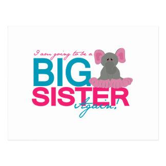 Carte Postale Éléphant de grande soeur encore
