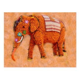 Carte Postale Éléphant orange