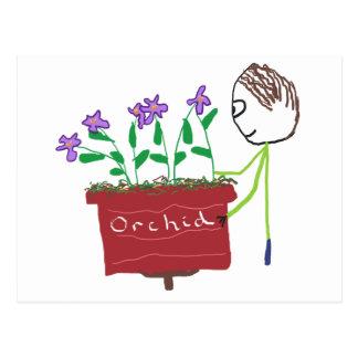 Carte Postale Élevage d'orchidée