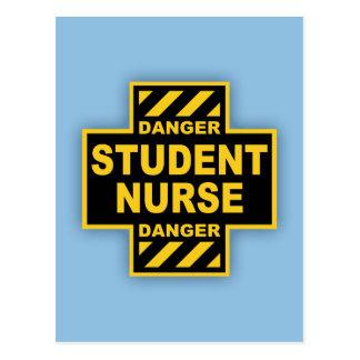 Carte Postale Élève-infirmière de danger