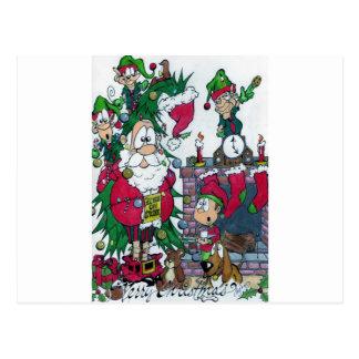 Carte Postale Elfes en grève