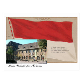 "Carte postale ""Elsass"" Musée Unterlinden"