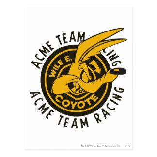 Carte Postale Emballage d'équipe d'E. Coyote Acme de Wile