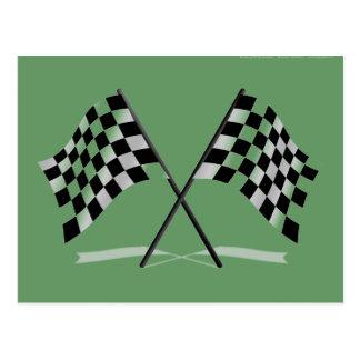 Carte Postale Emballage des drapeaux Checkered
