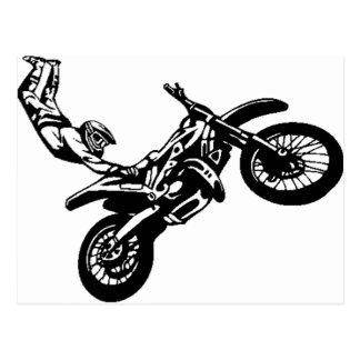 Carte Postale Emballage tous terrains de moto