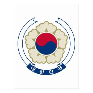 Carte Postale emblème de sud de la Corée
