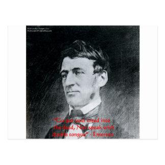 """Carte Postale Emerson """"croyance cadeaux de citation de sagesse"""