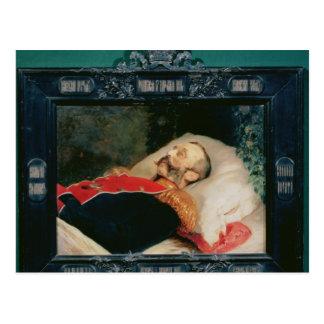 Carte Postale Empereur Alexandre II sur son lit de mort, 1881