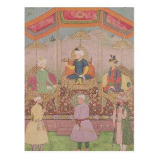 Carte Postale Empereur Babur de Mughal et son fils, Humayan