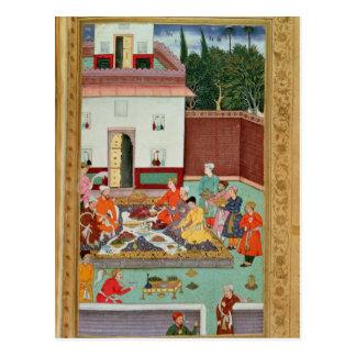 Carte Postale Empereur de Mughal se régalant dans une cour