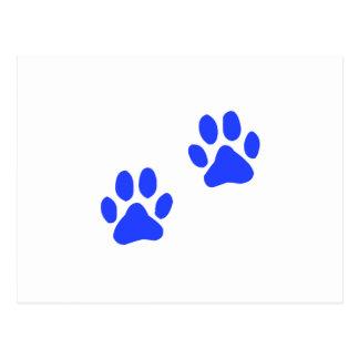 Carte Postale Empreintes de pattes de chien
