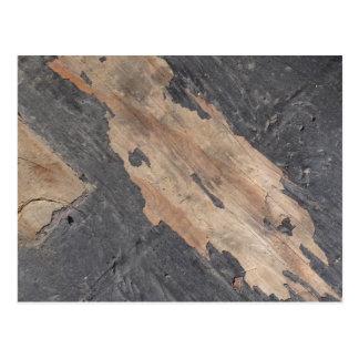 Carte postale en bois de gris fumeux