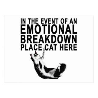 Carte Postale En cas d'un CAT d'endroit de PANNE ÉMOTIVE