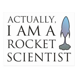 Carte Postale En fait, je suis un scientifique de fusée