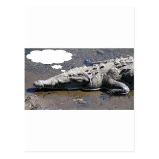 Carte Postale En rêvant le crocodile, ajoutez votre propre texte