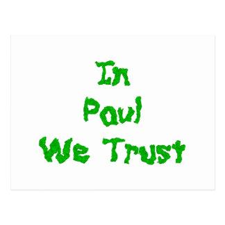 Carte Postale En Ron Paul nous faisons confiance