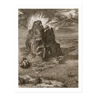 Carte Postale Enceladus a enterré sous le mont Etna, 1731 (engr