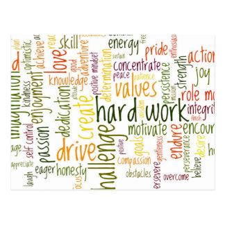 Carte Postale Encouragement de motivation de positif des mots #2