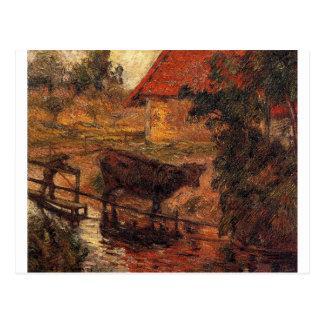 Carte Postale Endroit d'arrosage par Paul Gauguin