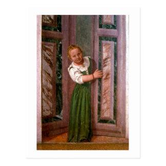 Carte Postale Enfant à la porte, du Sala un Crociera, à c.156