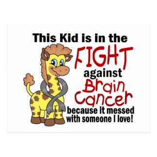 Carte Postale Enfant dans le combat contre le cancer du cerveau