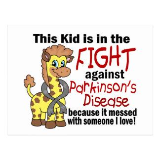 Carte Postale Enfant dans le combat contre le :maladie de