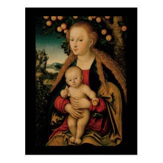 Carte Postale Enfant de Vierge sous le pommier Cranach