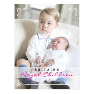 Carte Postale Enfants royaux - George et Charlotte
