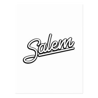 Carte Postale Enseigne au néon de Salem dans le blanc