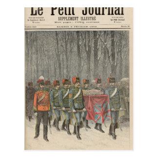 Carte Postale Enterrement de duc d'Albert Victor de Clarence