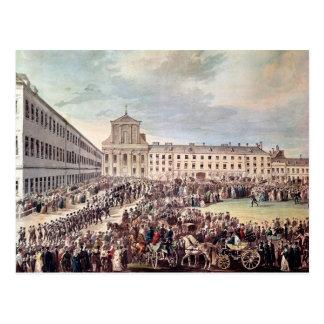 Carte Postale Enterrement de Ludwig van Beethoven à Vienne