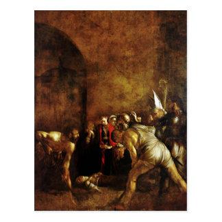Carte Postale Enterrement de saint Lucy par Caravaggio (1608)