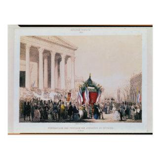 Carte Postale Enterrement des victimes de la La Madeleine
