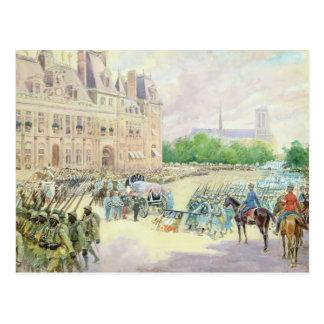 Carte Postale Enterrement du Général Joseph Gallieni 1916