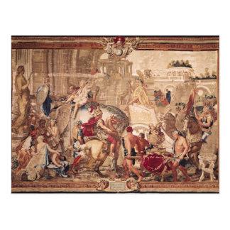Carte Postale Entrée d'Alexandre III le grand dans