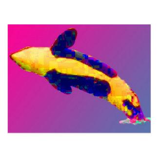 Carte Postale Épaulard d'orque ouvrant une brèche dans des