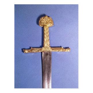 Carte Postale Épée de couronnement des rois de la France