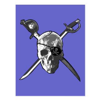 Carte Postale Épées de jolly roger