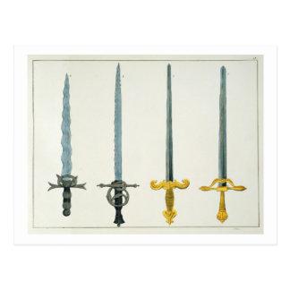 Carte Postale Épées, plat 'd'une histoire du développement a