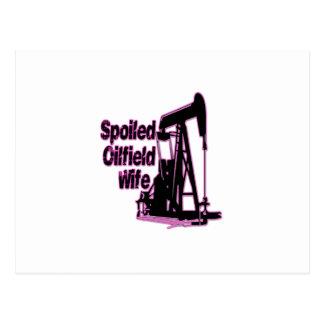 Carte Postale Épouse de gisement de pétrole corrompue par rose