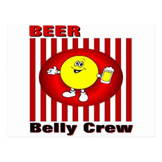 Carte Postale Équipage de ventre de bière