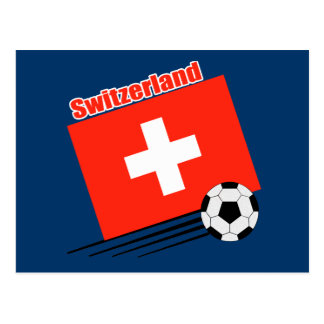 Carte Postale Équipe de football suisse